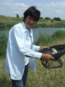 Nedeljka Bučaninová zo Srbobranu ulovila len niekoľko rýb celkovej hmotnosti 390 g