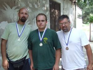 Traja najlepší v druhom úseku: Danijel Lukač, Dragan Krstić a Jaroslav Diviak (zľava)