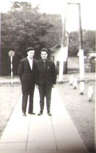 Ján a Franc počas jednej z obchôdzok Kovačice v šesťdesiatych rokoch