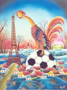 Maľba Pavla Hajku Futbalové Francúzsko