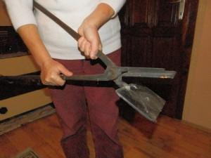 Toto je hádam najstaršie železo v dedine na prípravu oblátok, má ponad 100 rokov