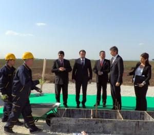 Kladenie základného kameňa nového distribučného strediska spoločnosti Delhaize v Starej Pazove