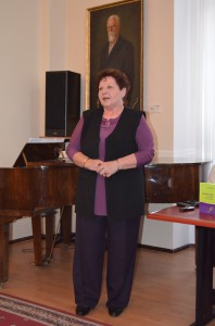 """""""Osobitnou radosťou je privítať na svete novú jazykovú knihu,"""" povedala predsedníčka MSS Katarína Melegová-Melichová."""