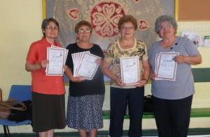 Mária Latišková, Darina Valachová, Ružena Kreková a Katarína Beličková (zľava)
