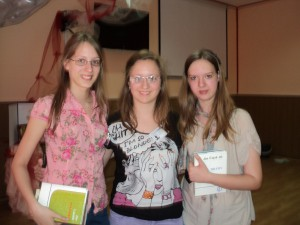 Odmenené ôsmačky: Tabita Vágalová, Iva Mojovićová a Marína Imreková (zľava)