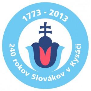 Logo osláv 240. výročia príchodu Slovákov do Kysáča, ktoré Pavel kreoval, vyrobil a daroval...