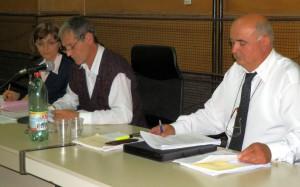 Nový predseda ZO Radoja Blagojević (v strede), podpredseda Ljuban Skopljak a tajomníčka Nevenka Čmelíková
