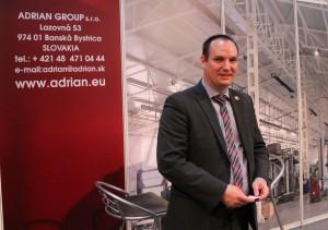 Ing. Michal Mihalyfi pred stánkom Adrian Group