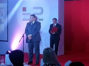Predseda obce Đorđe Radinović počas slávnostného udelenia uznania
