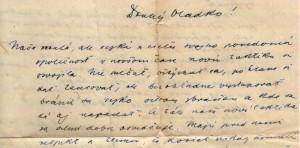 List Vladimíra Hurbana synovi Vladimírovi Konštantínovi Hurbanovi z 27. 1. 1903
