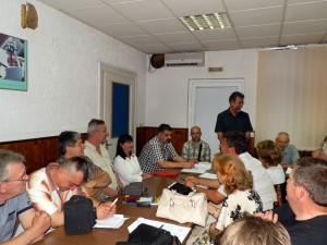 Noví členovia Rady MS Stará Pazova v čele s predsedom Dr. Mišom Filipom (stojí)