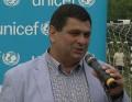 Đorđe Radinović počas otvorenia turnaja