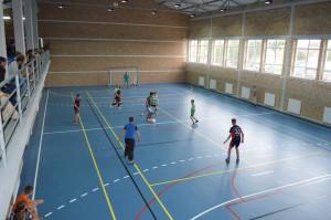 Prvý zápas selenčských žiakov v novej hale