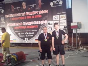 V Trnave sa ovenčili európskymi medailami: Milan Vezmar a Ján Arnold Paulíny (zľava)