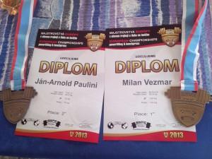 Diplomy a medaily pre Srbsko