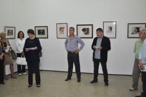 Záber z otvorenia výstavy akvarelov Vladimíra Stepanova