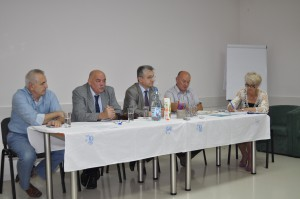 Vedenie petrovského združenia podnikateľov a hostia z Únie zamestnávateľov Srbska