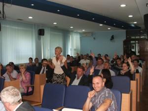 Záber z 13. schôdze lokálnej samosprávy Báčska Palanka