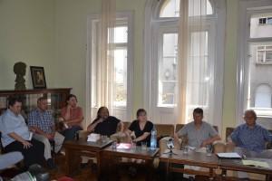 Zo stretnutia v Klube spisovateľov (foto: A. Meleg)