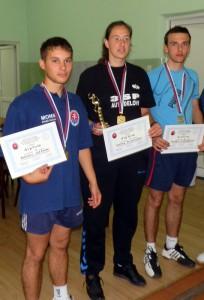Na tohtoročnom matičnom stolnotenisovom turnaji v Starej Pazove Boris Lešťan (prvý zľava) obsadil tretie miesto