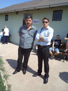 Sľúbil podporu – richtár Bogdan Miljević (vľavo) s predsedom Jednoty Michalom Balážom