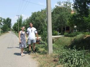 Marijana a Daniel Šagátovci ako iniciátori pracovnej akcie