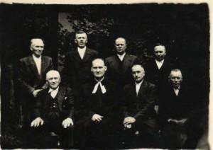 Senior Vladimír Vereš so správou pazovského cirkevného zboru