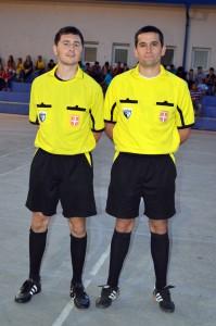 Zápasy na turnaji viedli Karol Faďoš a Slobodan Danilović (zľava)