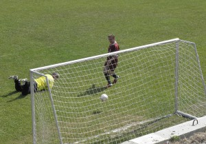 Tretí gól Blaha na zápase Družstevník – Panónia 3 : 0