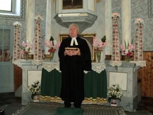Vladimír Lovás st. na rozlúčkových bohoslužbách