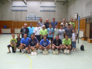 Účastníci tohtoročného turnaja stolných tenistov na Slávnostiach