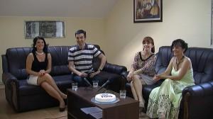 Zo slávnostného stého vysielania S Vami a pre Vás: (zľava) Jaroslava Klinková, Miloš Lazić, Zdenka Kožíková a Anna Simonovićová