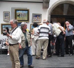 Výstava v Slovinskej akadémii vied a umení vzbudila veľký záujem predstaviteľov slovinských médií a milovníkov umenia