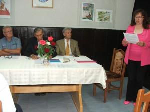 Z večierka venovaného 80. narodeninám kysáčskeho učiteľa