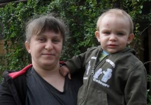 Miluška Kukučková s dcérou Viktóriou, narodenou 12. januára 2012